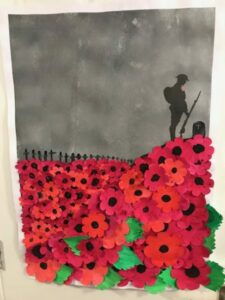The finished handmade poignant Armistice Day tribute by Campania ARBD residents
