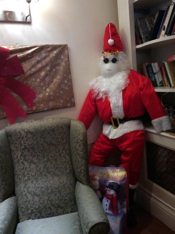 Serenita ARBD care home's home made Santa Claus