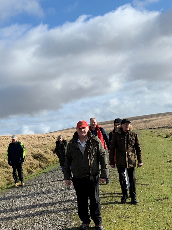 Vane Hill ARBD residents walking at Dartmoor National Park
