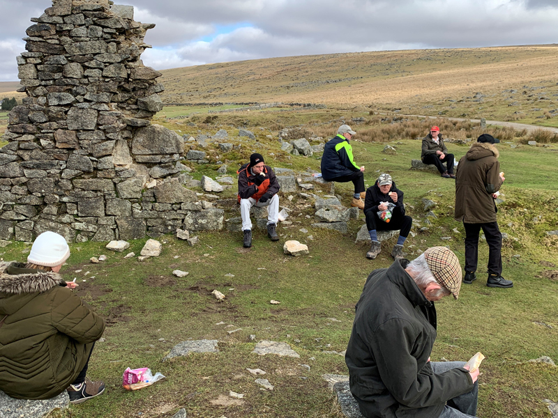 Vane Hill ARBD residents eating their packed lunch at Dartmoor National Park