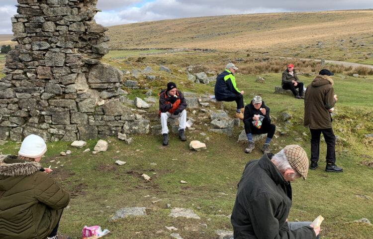 January Activities - Vane Hill residents enjoying a picnic in Dartmoor national park